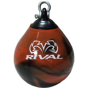Rival Boxing Aqua Head Hunter Punching Bag - 12 in. - Black/Orange