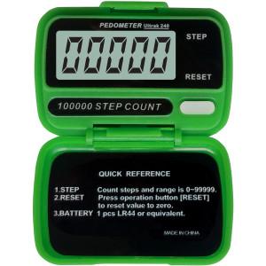 Ultrak 240 - Electronic Step Counter Pedometer - Green