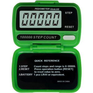Ultrak 240 - Electronic Step Counter Pedometer - Green
