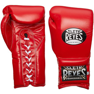 Lace Up Training Boxing Gloves - Red
