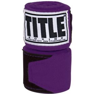"Title Boxing 180"" Semi Elastic Mexican Handwraps - Purple"
