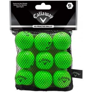 Callaway HX 9 Count Practice Golf Balls - Green