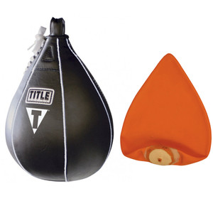 Title Boxing Leather Speed Bag and Bladder - Medium