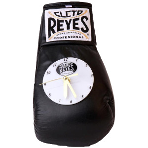 Cleto Reyes 10 oz Authentic Pro Fight Leather Clock Glove - Black