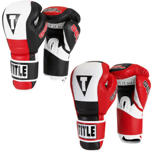 Title Boxing Gel Rush Hook and Loop Training Gloves