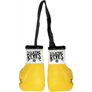 Cleto Reyes Miniature Pair of Boxing Gloves - Yellow