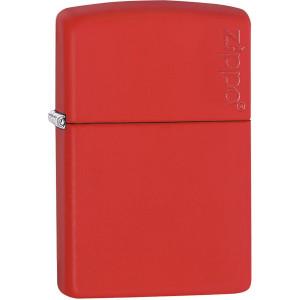 Zippo Logo Matte Pocket Lighter - Red