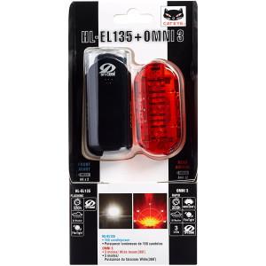 CatEye Omni 3 Cycling Safety Light Set - HL-EL135 and TL-LD135-R