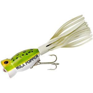 Arbogast Hula Popper 1/4 oz Fishing Lure - Frog/White Belly