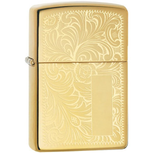 Zippo High Polished Brass Venetian Pocket Lighter
