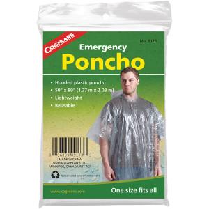 Coghlan's Emergency Poncho w/ Hood, Reusable & Lightweight, Survival Emergency