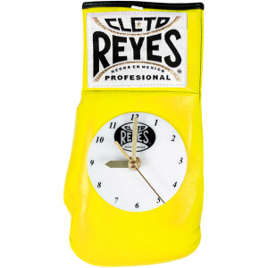 Cleto Reyes 10 oz. Authentic Pro Fight Leather Clock Glove - Yellow
