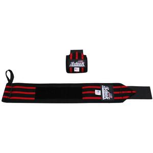 """Schiek Sports Model 1124 Heavy Duty 24"""" Wrist Wraps - Black/Red"""