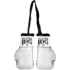 Cleto Reyes Miniature Pair of Boxing Gloves - Silver
