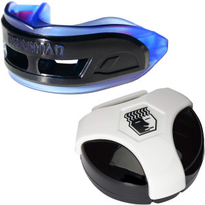 Brain Pad 3XS Professional Mouthguard with Case-Blue/Black