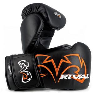 Rival Boxing Evolution Hook and Loop Bag Gloves - Black