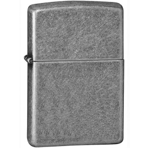 Zippo Antique Silver Plated Pocket Lighter