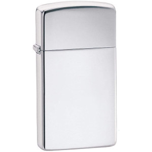 Zippo Slim Polished Chrome Pocket Lighter