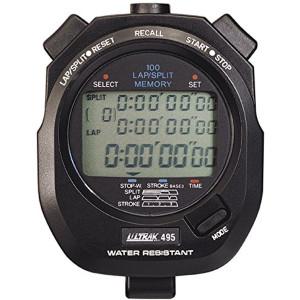 Ultrak 495 - 100 Dual Split Memory Stopwatch - Black