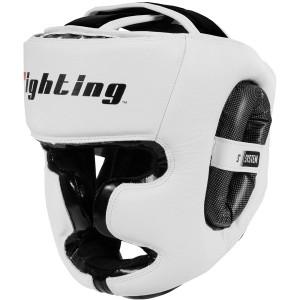 Fighting Sports S2 Gel Full Face Training Boxing Headgear - White/Black