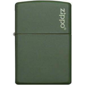 Zippo Logo Matte Pocket Lighter - Green