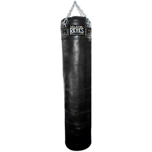 "Cleto Reyes Unfilled 78""x 16"" Cowhide Leather Training Bag - XL - Black"