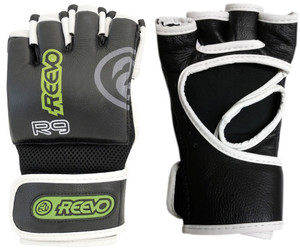 Reevo R9 Gauntlet Pro Leather MMA Gloves - Black