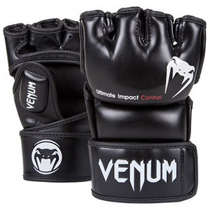 Venum Impact MMA Gloves - Black