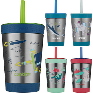 Contigo Kid's 12 oz. Spill Proof Insulated Stainless Steel Tumbler with Straw