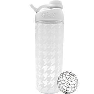 Blender Bottle Sleek 28 oz. Twist-On Cap Shaker Bottle with Loop Top - Houndstooth