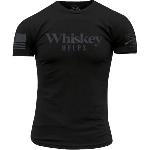 Grunt Style Whiskey Helps Crewneck T-Shirt - Black