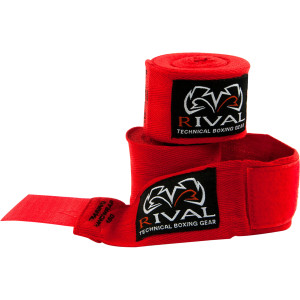 """Rival Boxing 150"""" Traditional Cotton Handwraps in Red"""