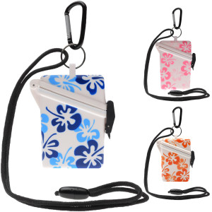 Witz Surfsafe Flower Waterproof Sport Case with Lanyard and Carabiner