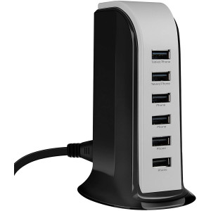 HyperGear Power Tower Six USB Port High-Speed Charging Station