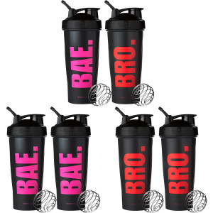 Blender Bottle Special Edition 28 oz. Bae/Bro Shaker Bottle Mix & Match Two-Pack