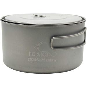 TOAKS Titanium 1350ml Outdoor Camping Cook Pot POT-1350