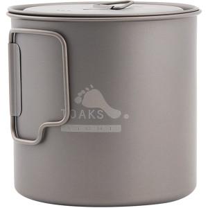 TOAKS Light Titanium 650ml Outdoor Camping Cook Pot POT-650-L
