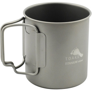 TOAKS Titanium Lightweight 450ml Double Wall Cup CUP-450-DW