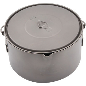 TOAKS Titanium 2000ml Outdoor Camping Cook Pot with Bail Handle POT-2000-BH