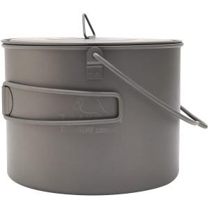 TOAKS Titanium 1300ml Outdoor Camping Cook Pot with Bail Handle POT-1300-BH