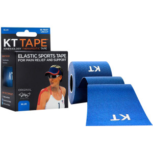 KT Tape Cotton 16 ft Uncut Kinesiology Therapeutic Elastic Sports Roll - Blue
