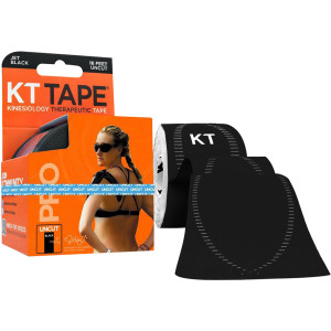 KT Tape Pro 16 ft Uncut Kinesiology Therapeutic Elastic Sports Roll - Black