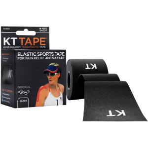KT Tape Cotton 16 ft Uncut Kinesiology Therapeutic Elastic Sports Roll - Black
