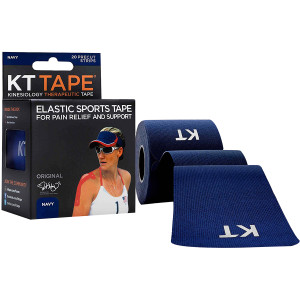 """KT Tape Cotton 10"""" Precut Kinesiology Therapeutic Sports Roll, 20 Strips, Navy"""