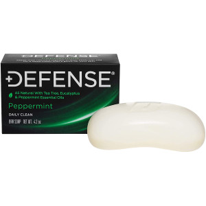 Defense Soap 4 oz. Antimicrobial Therapeutic Body Bar Soap - Peppermint