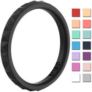 Enso Rings Pyramid Stackables Series Silicone Ring
