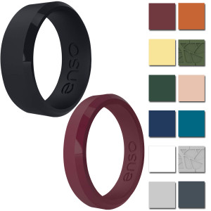 Enso Rings Bevel Series Silicone Ring - Available in Classic or Thin!