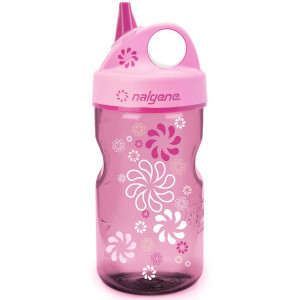Nalgene Tritan Grip 'n Gulp Water Bottle - 12 oz. - Wheels Pink/Pink
