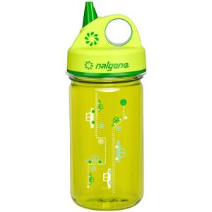 Nalgene Tritan Grip 'n Gulp Water Bottle - 12 oz. - Cars Green/Green