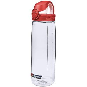 Nalgene Tritan On the Fly Water Bottle - 24 oz.- Clear/Red
